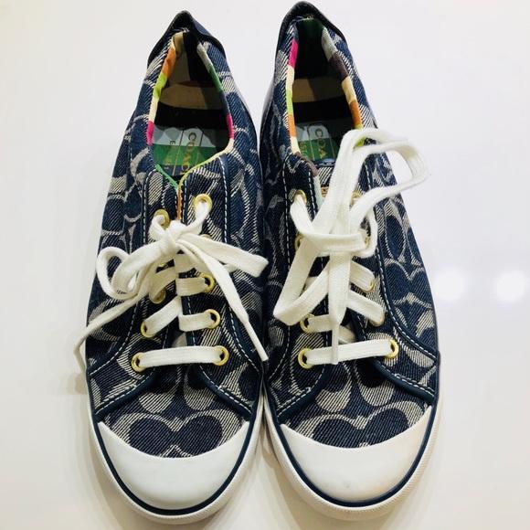 Coach Canvas Monogram Sneakers 8Y51kf7QHn